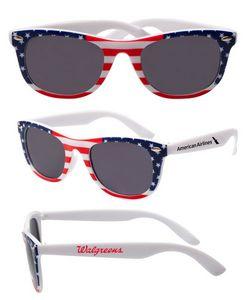Patriotic American Flag Malibu Sunglasses