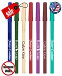 Custom Closeout Certified USA Made White Stick Promo Pen - No Minimum