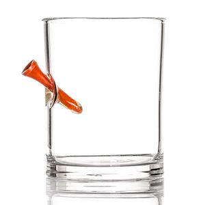 Whiskey Glass - Golf Tee - Red