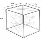 Custom Acrylic Cube, 10''w x 10''d x 10''h