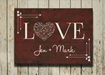 Custom Bokah Love Personalized Pallet Sign - burnt red color
