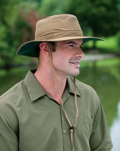 e3f52e961c7 Adams Outback Safari Hat w  Wide Brim   Adjustable Chin Strap - OB101 - IdeaStage  Promotional Products