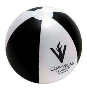 16 Official Size Inflatable Beach Ball - Black/White