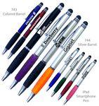 Custom Smart Phone Pen W/Stylus & Comfort Grip - Featured Black