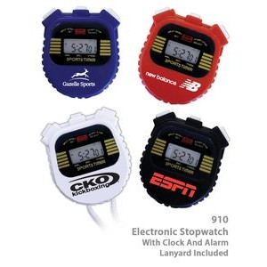 Digital Stop Watch with Chronometer With Alarm & Clock & Lap Time