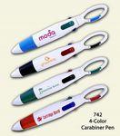 Custom 4-Color Pen W/ Carabiner Clip