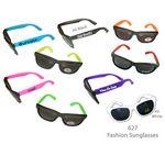 Fashion Sunglasses w/Neon Frame