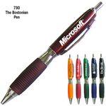 Custom Burgundy Fashion Ballpoint Pen w/ Comfort Grip