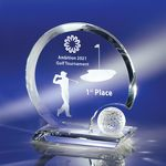 Circular Memorable Golf Moment Crystal Award