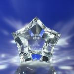 Custom Polygon Star Crystal Award 2-3/8