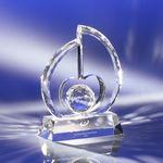 Custom Gem Heart Crystal Award