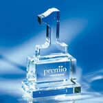 Custom Number One Crystal Award 7