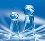 Custom Exposure Crystal Globe Award 9-1/2