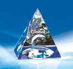 Custom Reflections of Life Crystal Pyramid Global Award