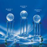 Trifecta Crystal 3 Column Golf Award 10