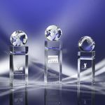 Custom The Icon Crystal Globe Award 11