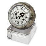 Custom Globetrotter World Time Clock with Crystal Base