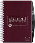 Custom Time Managers Calendar w/Pen Safe Back Cover & Pen (7