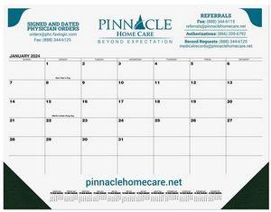 21 3/4x17 Black Calendar Desk Pads