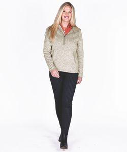 Women's Heathered Fleece Quarter Zip Hoodie