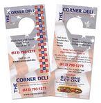 Custom Door Hanger with Tear Off Business Card - (3-5/8