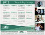 Custom 2-in-1 Repositionable Wall Calendar w/ Monitor Strip Calendar