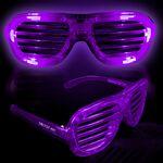 Custom Purple Light-Up Slotted Eyeglasses