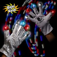 Light Up Patriotic Rock Star Glove (Right Hand)