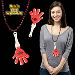 Red & White Hand Clapper w/ Attached J Hook