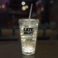 16 Oz. White String Light LED Cup