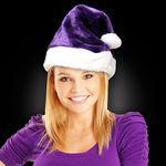 Custom Purple Plush Santa Hat