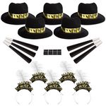Custom Golden Midnight New Year's Eve Party Kit for 50