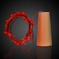 Red LED Cork String Light Set