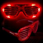 Custom Red Light-Up Slotted Glasses