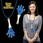Blue & White Hand Clapper w/ Attached J Hook