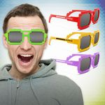 Custom Pixel Mirrored Sunglasses in Assorted Colors