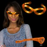 Light Up Orange Flashing Glasses