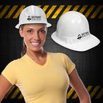 Custom White Plastic Novelty Construction Hat