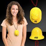 Custom Mini Yellow Construction Hat w/ J Hook Attachment