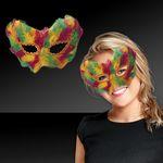 Custom Mardi Gras Feathered Mask