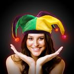 Custom Light Up Mardi Gras Velvet Jester Hat