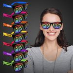 Rainbow Pride Neon Pink Billboard Sunglasses