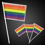 Custom Rainbow Plastic Flags