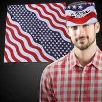 "Stars and Stripes 22"" Cotton Bandanas"