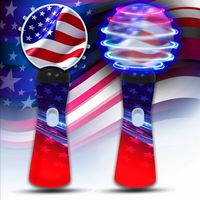 Patriotic LED Spinner Wand