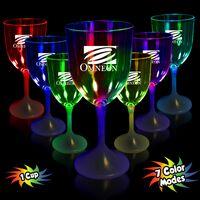 10 Oz. Light-Up Wine Glass w/White Base
