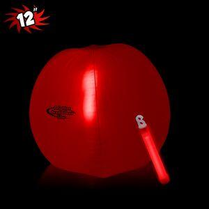 12 Inflatable Beach Ball w/ Red Light Stick