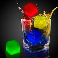 """1"""" Assorted Colors Glow Ice Cube"""