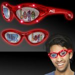Red Custom LED Billboard Sunglasses