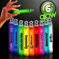 "6"" Premium Glow Stick- Variety of Colors"